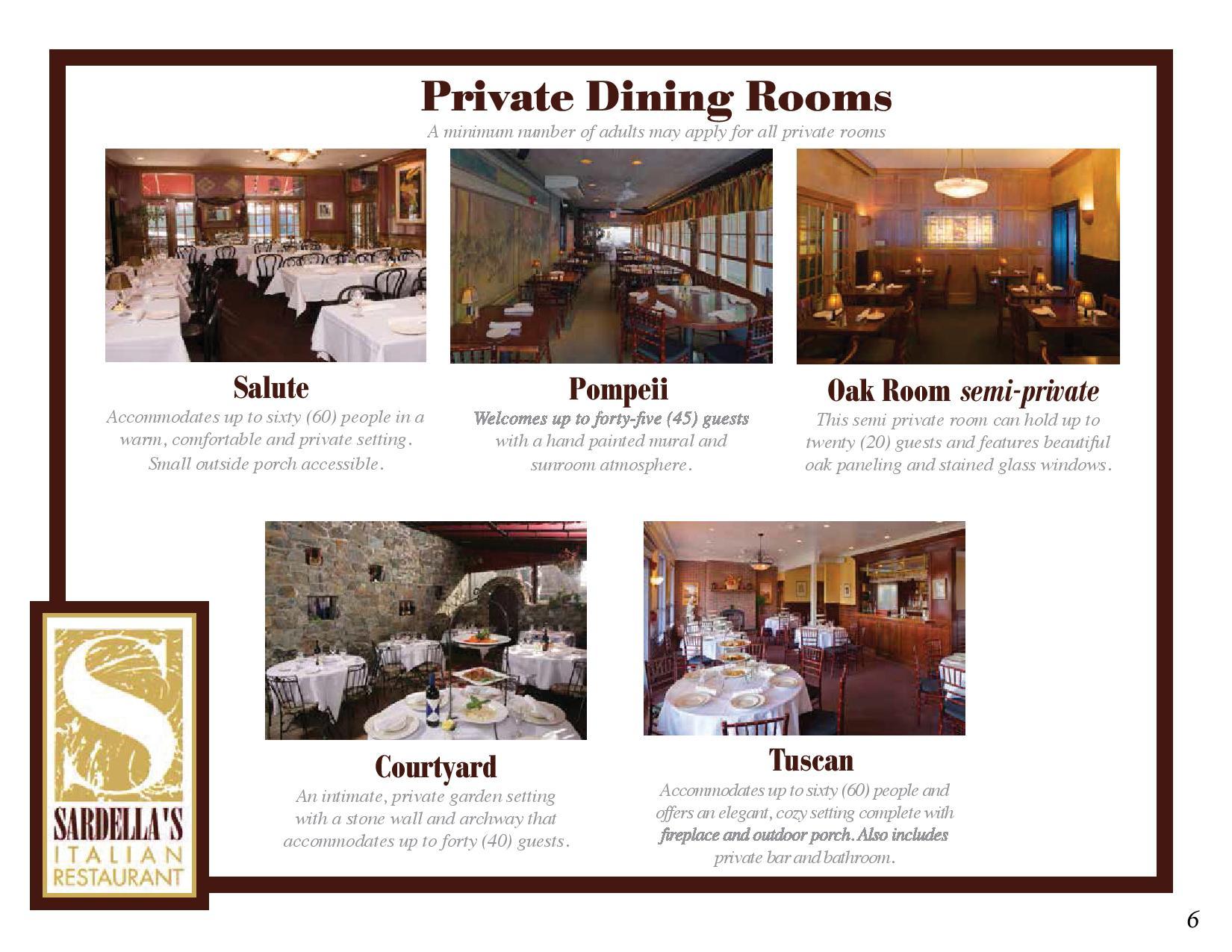 special events menu sardella u0027s italian restaurant newport ri