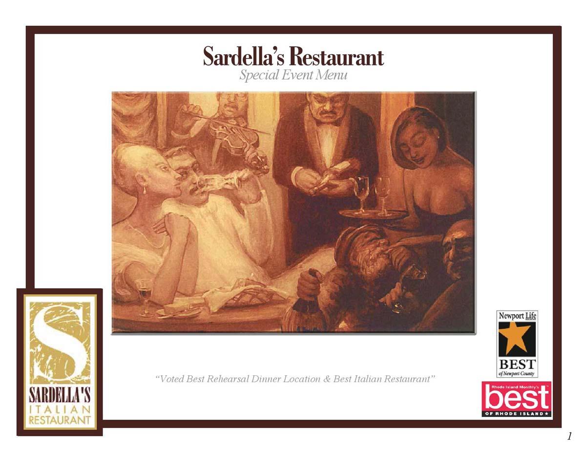 Sardella S Italian Restaurant Newport Rhode Island